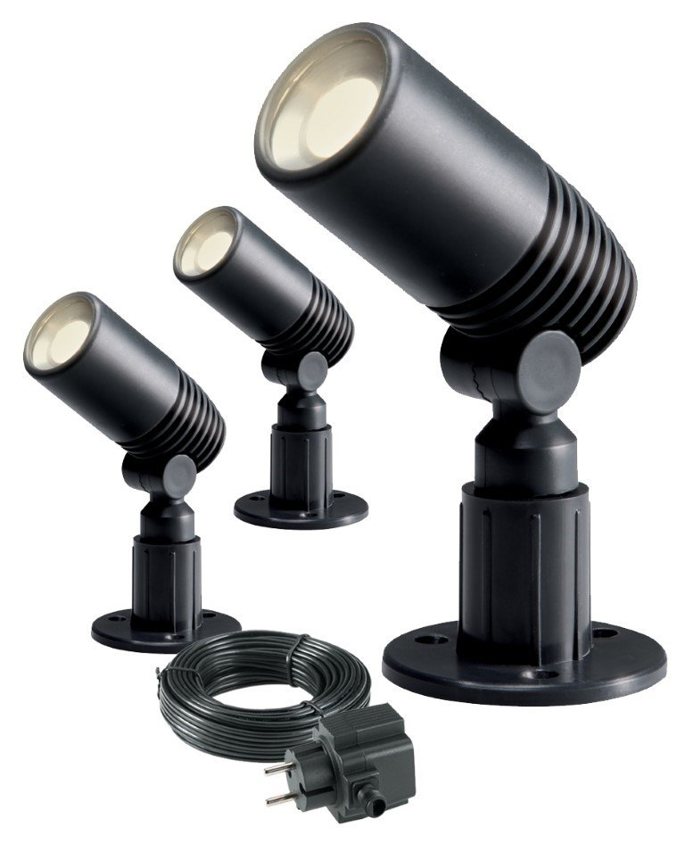 GARDEN LIGHTS ALDER TUINSPOT SET 3 STUKS