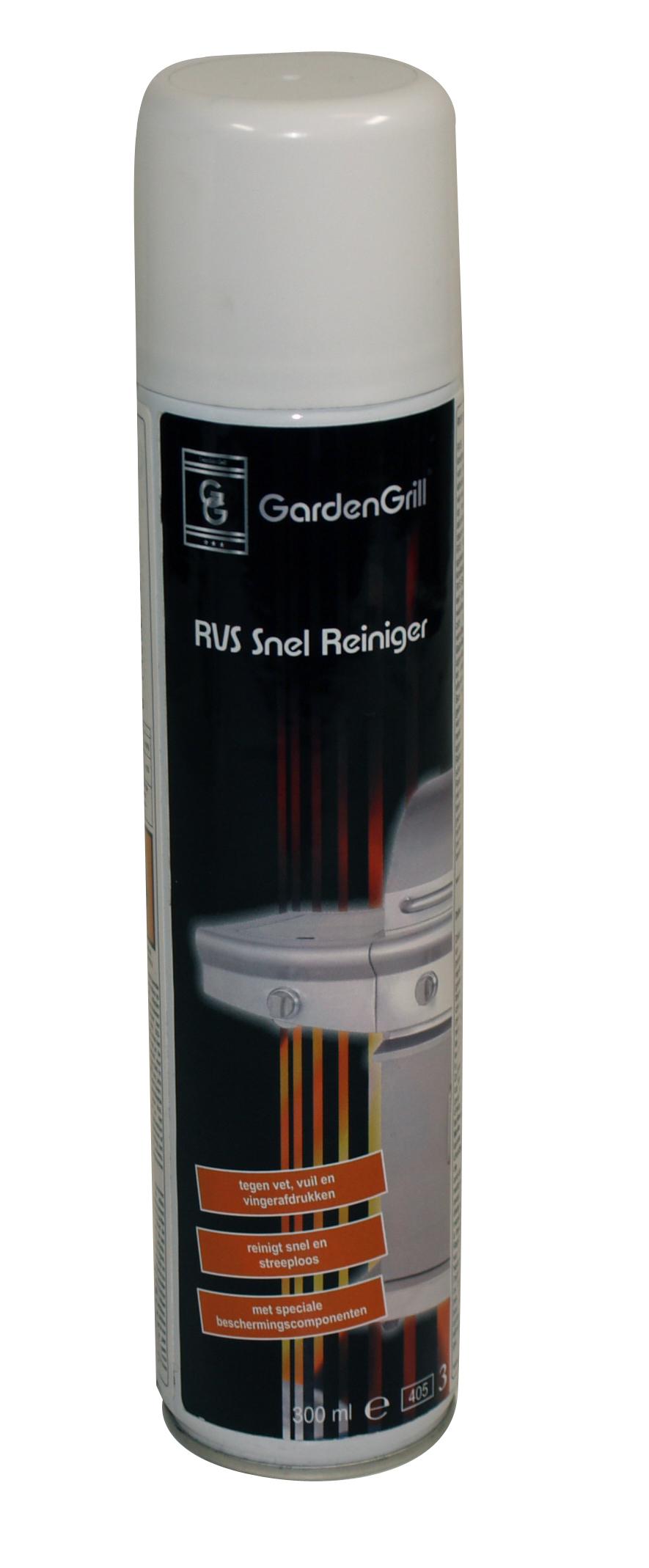 GARDEN GRILL RVS SNELREINIGER