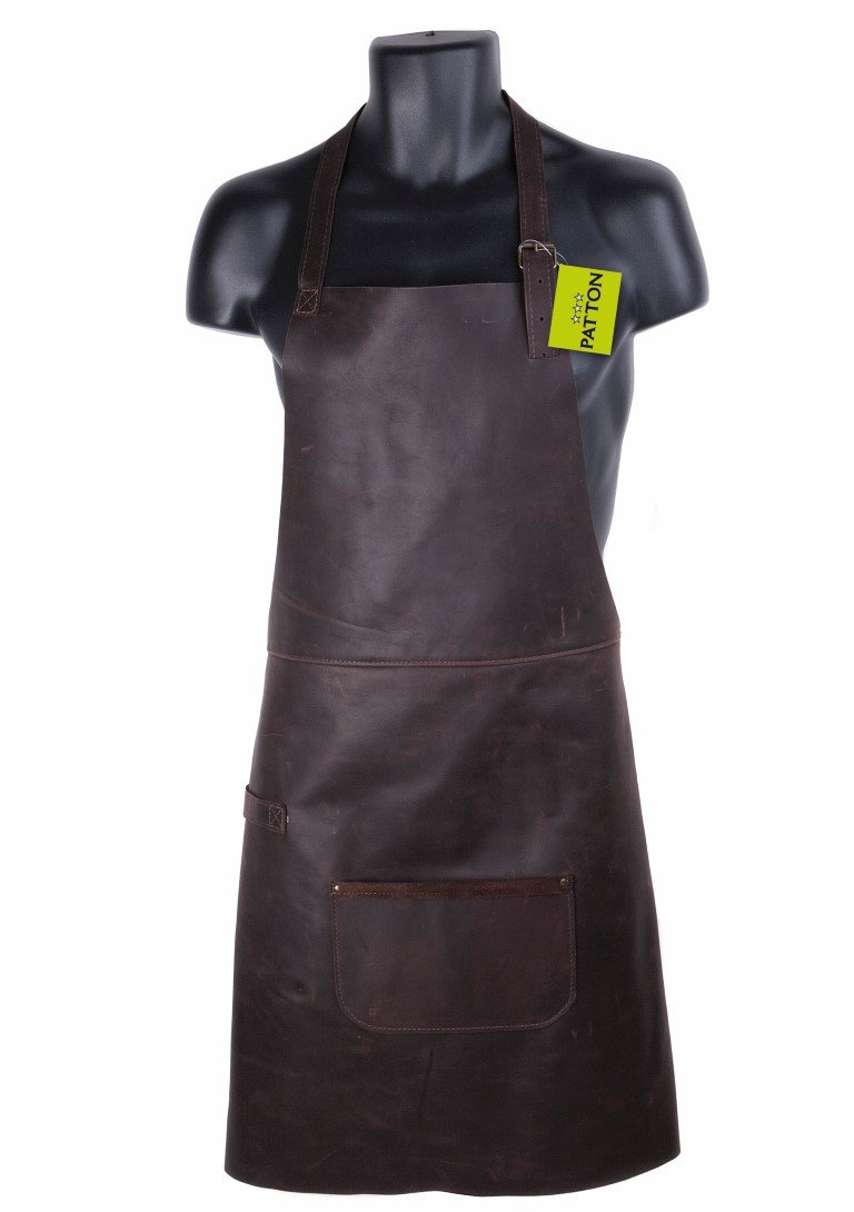 PATTON BBQ SCHORT GRILL CHEF GENUINE LEATHER