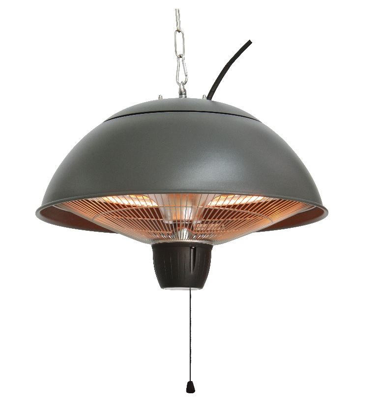 PATIO HEATER GREY, HALOGEEN, CEILING MOUNTED, CE11G