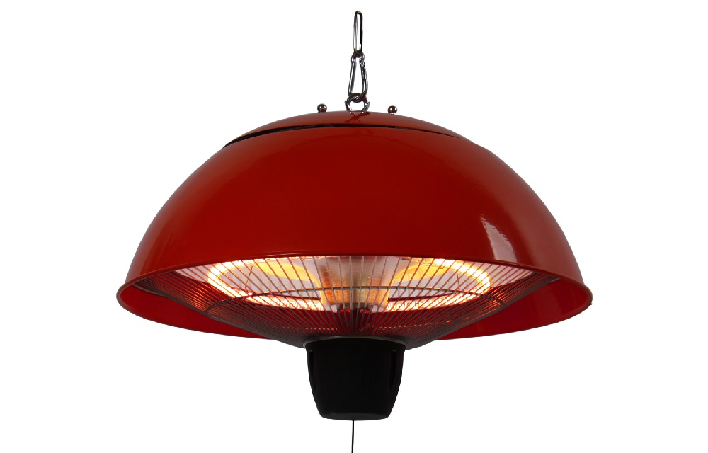 PATIO HEATER RED, HALOGEEN, CEILING MOUNTED, CE11R