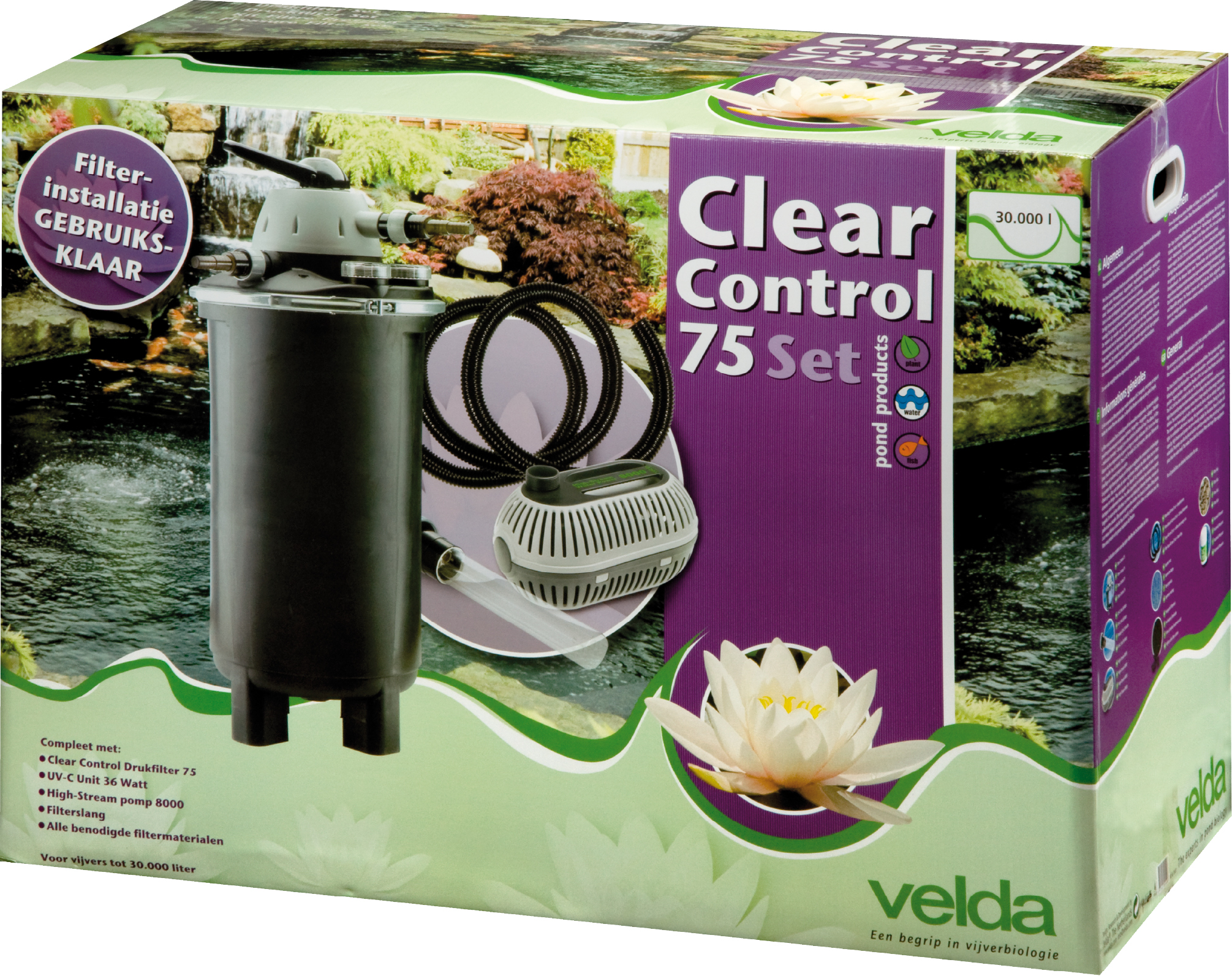 VELDA CLEAR CONTROL 75 DRUKFILTER SET