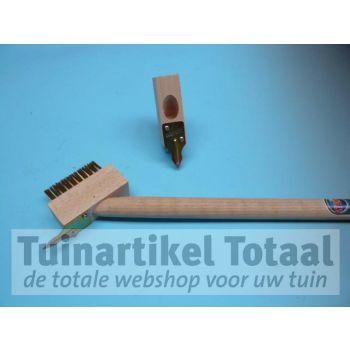 VOEGENBORSTEL + SCRATCHER MET STEEL  WWW.TUINARTIKELTOTAAL.NL