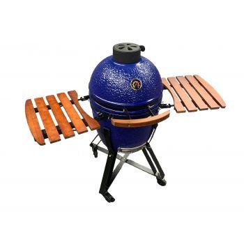 Blauwe kamado barbecue The Blue Burner van Deponti kopen bij Tuinartikel Totaal