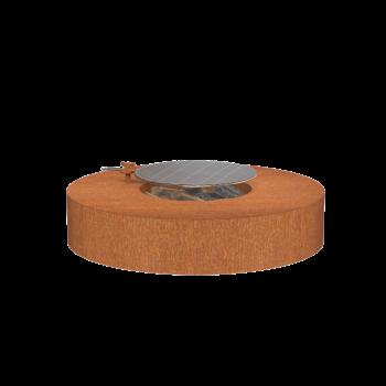 Vuurtafel Forno Cortenstaal Rond + Grill