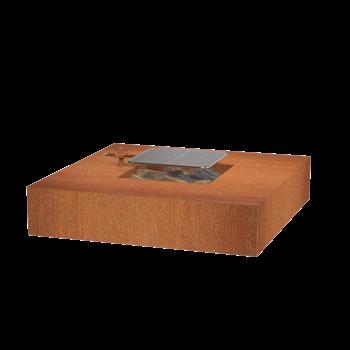 Vuurtafel Cortenstaal met grillrooster kopen bij Tuinartikel Totaal