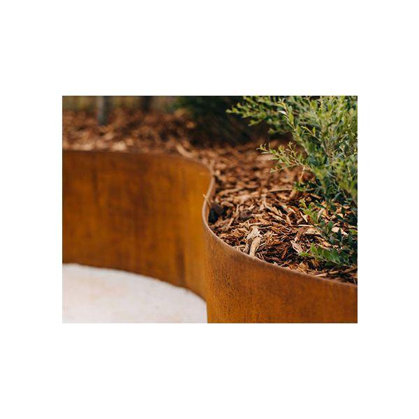 StraightCurve Cortenstaal - 6 stuks per doos (6,8 m), 150 mm Flexline, 113 cm per deel, incl. montagemiddelen en handleiding