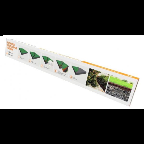 StraightCurve Verzinkt Staal - 6 stuks per doos (6,8 m), 150 mm Flexline, 113 cm per deel, incl. montagemiddelen en handleiding