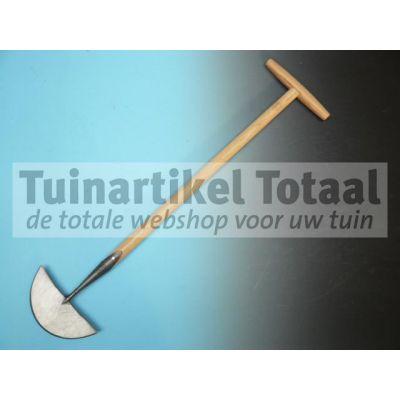 GRASKANTENSTEKER GESMEED MET HOUTEN STEEL  WWW.TUINARTIKELTOTAAL.NL