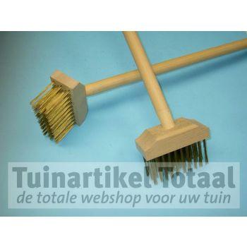 ONKRUID / VLONDERBORSTEL MET STEEL  WWW.TUINARTIKELTOTAAL.NL