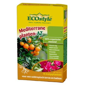 ECOSTYLE MEDITERRANE PLANTEN-AZ 1 KG  WWW.TUINARTIKELTOTAAL.NL