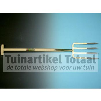 SPITVORK 4 TANDS MET T-STEEL  WWW.TUINARTIKELTOTAAL.NL