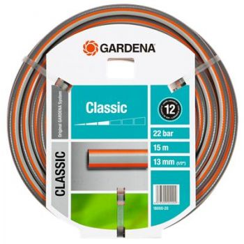 """GARDENA CLASSIC SLANG 1/2"""" (13 mm) 10 M  WWW.TUINARTIKELTOTAAL.NL"""