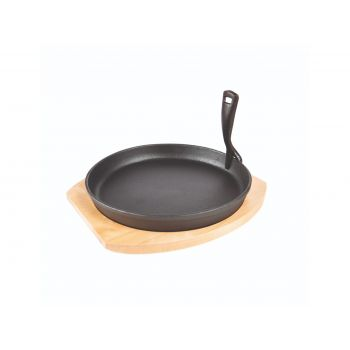Grill Guru Cast Iron Cooking Plate & Holder