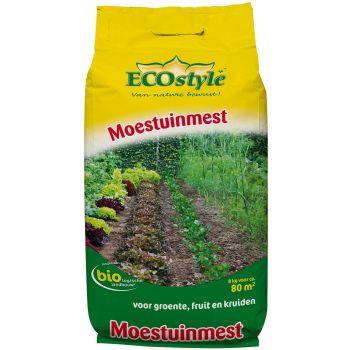ECOSTYLE MOESTUINMEST 8 KG  WWW.TUINARTIKELTOTAAL.NL
