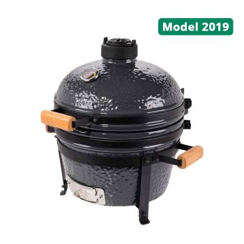 "PATTON KAMADO GRILL 16"" ZWART TABLE CHEF INCL. BLUETOOTH CONTROL WWW.TUINARTIKELTOTAAL.NL"