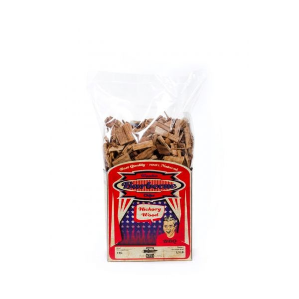 AXTSCHLAG ROOKHOUT HICKORY CHIPS 1 KG  WWW.TUINARTIKELTOTAAL.NL