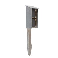 Rvs electra paaltje met twee spatwaterdichte stopcontacten. deze kunt u buiten toepassen in de tuin, op het ...
