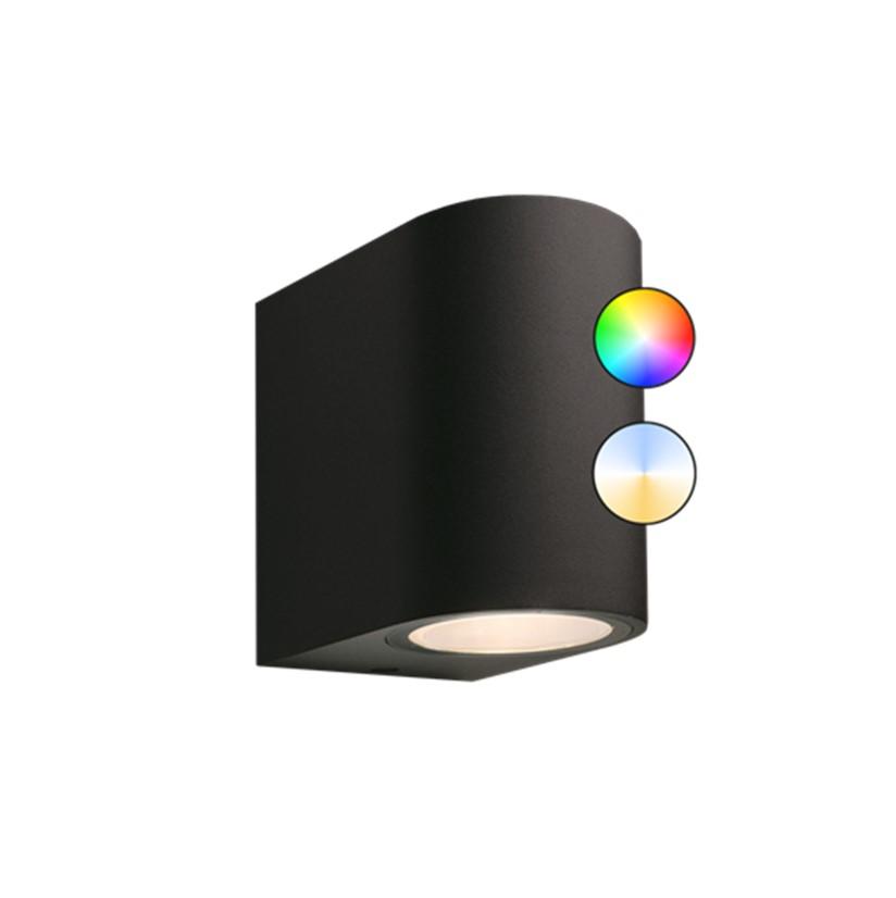GARDEN LIGHTS GILVUS ZWART BUITENWANDLAMP PLUS (SMART)