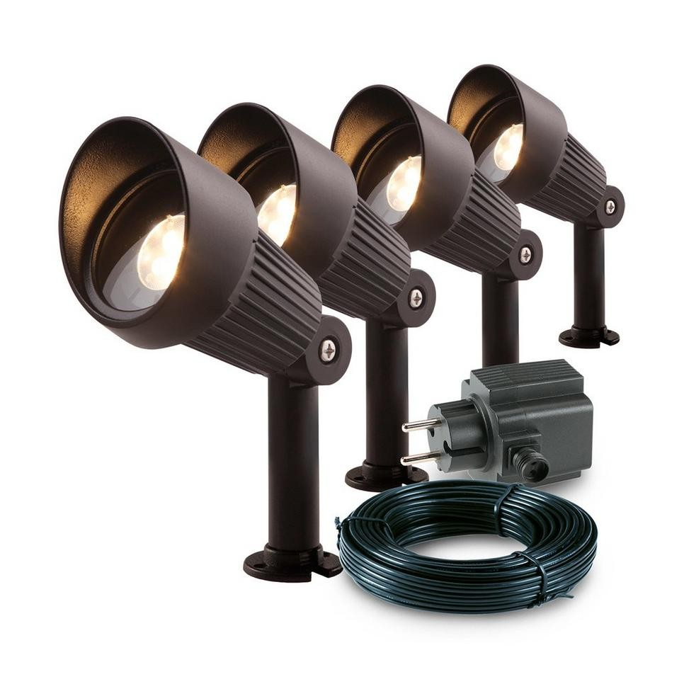 GARDEN LIGHTS FOCUS TUINSPOT SET 4 STUKS