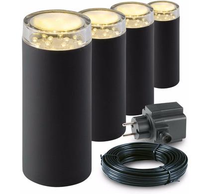 GARDEN LIGHTS STAANDE LAMP LINUM SET 4 STUKS