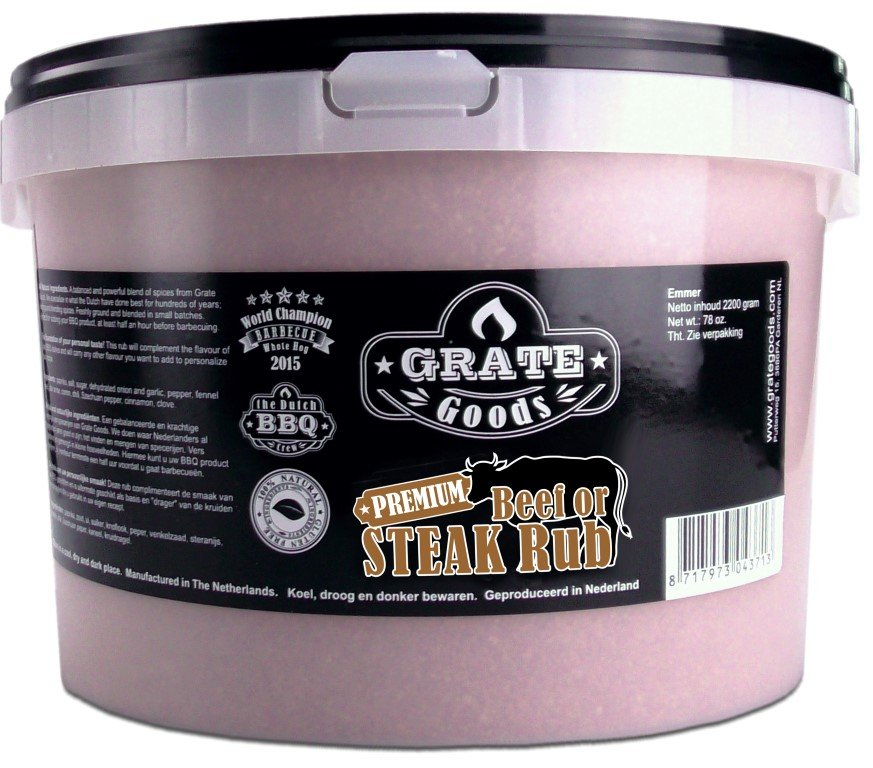 GRATE GOODS PREMIUM BEEF OR STEAK RUB 2200 GR EMMER