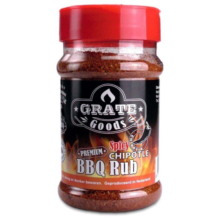 GRATE GOODS PREMIUM SPICY CHIPOTLE BBQ RUB 180 GR STROOIBUS