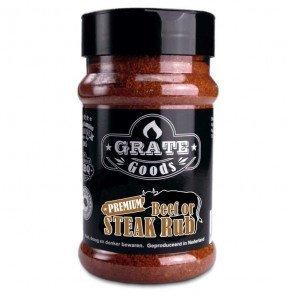 GRATE GOODS PREMIUM BEEF OR STEAK RUB 180 GR STROOIBUS  WWW.TUINARTIKELTOTAAL.NL