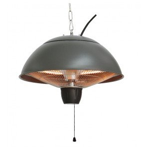 PATIO HEATER GREY, HALOGEEN, CEILING MOUNTED, CE11G  WWW.TUINARTIKELTOTAAL.NL