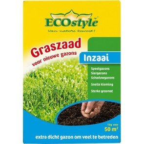 ECOSTYLE GRASZAAD INZAAI 1 KG  WWW.TUINARTIKELTOTAAL.NL