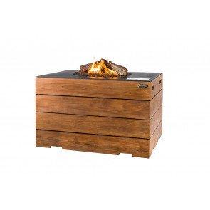 HAPPY COCOONING VUURTAFEL RECHTHOEK TEAKHOUT LOUNGE&DINING  WWW.TUINARTIKELTOTAAL.NL