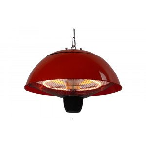 PATIO HEATER RED, HALOGEEN, CEILING MOUNTED, CE11R  WWW.TUINARTIKELTOTAAL.NL