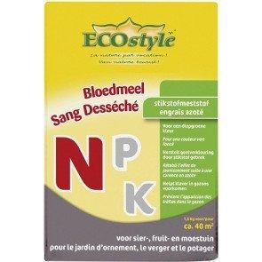 ECOSTYLE BLOEDMEEL 1,6 KG  WWW.TUINARTIKELTOTAAL.NL