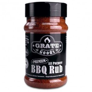 GRATE GOODS ALL PURPOSE BBQ RUB 180 GR STROOIBUS  WWW.TUINARTIKELTOTAAL.NL