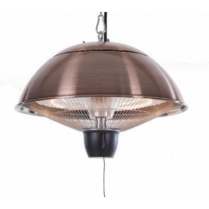 PATIO HEATER HALOGEEN, COPPER LOOK, CEILING MOUNTED, CE11KWWW.TUINARTIKELTOTAAL.NL